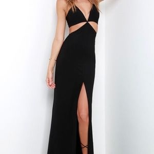 Lulu's Cut Out Front Slit Maxi Dress